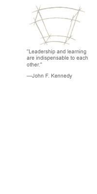 """Leadership and learning are indispensable to each other."" --John F. Kennedy"